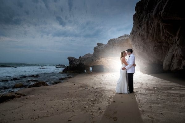 Bride and groom's Mexican wedding in flora farm in cabo san lucas