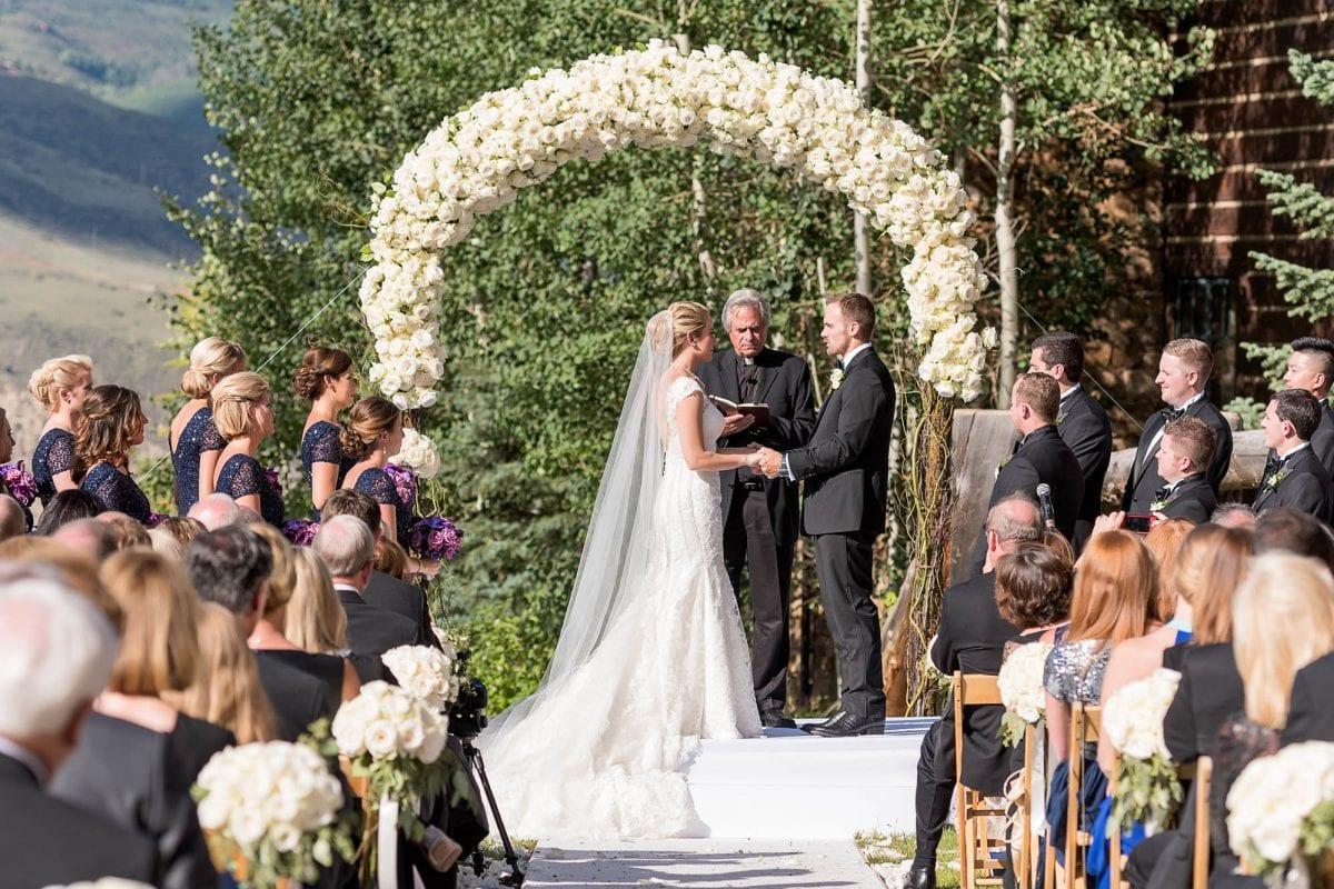 bride and groom's beaver creek wedding in colorado
