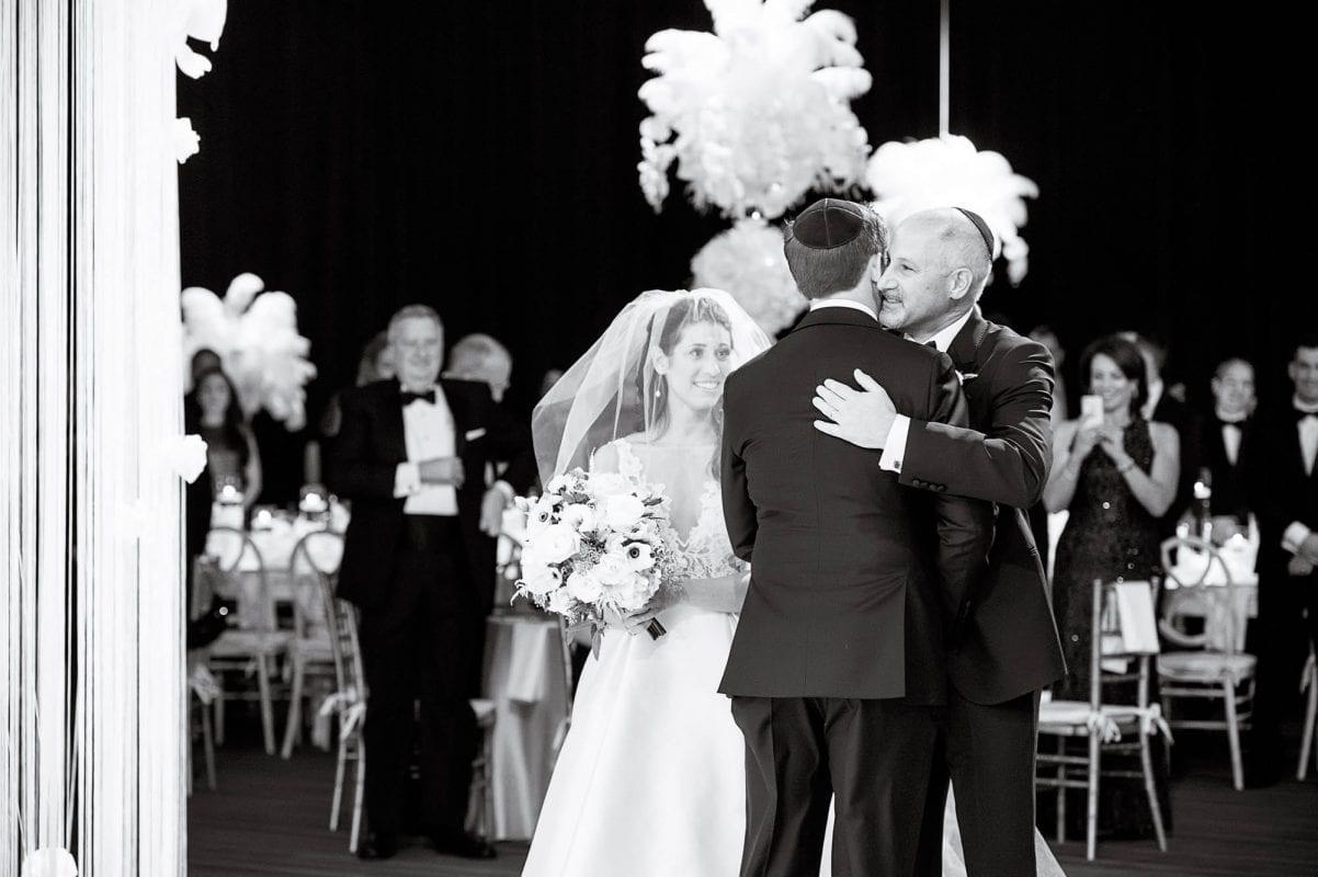 bride and groom's elegant city wedding at seawell grand ballroom denver colorado