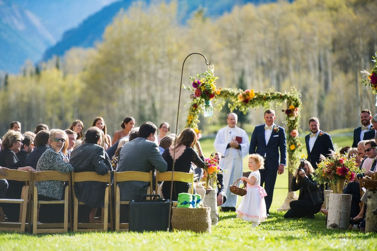 bride and groom's aspen wedding in colorado